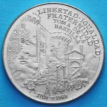 Куба 1 песо 1989 год. Бастилия.
