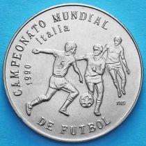 Куба 1 песо 1989 год. ЧМ по футболу в Италии №2.