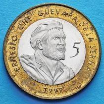 Куба 5 песо 1999 год. Эрнесто «Че» Гевара де ла Серна.