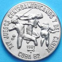 Куба 1 песо 1981 год. XIV Игры Центральной Америки. Легкая атлетика