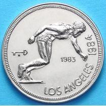 Куба 1 песо 1983 год. XXIII Олимпиада, бег
