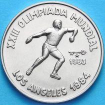 Куба 1 песо 1983 год. XXIII Олимпиада. Метание диска