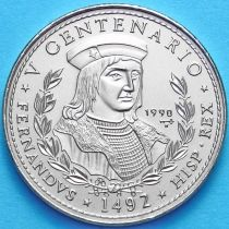 Куба 1 песо 1990 год. Король Фердинанд