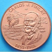 Куба 1 песо 1988 год. Карлос Финлей. Медь.