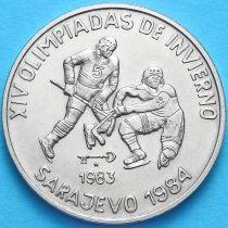 Куба 1 песо 1983 год.  Олимпиада. Хоккей