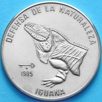 Куба 1 песо 1985 год. Игуана, голова.
