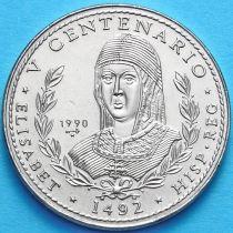 Куба 1 песо 1990 год. Изабелла, Королева Кастилии