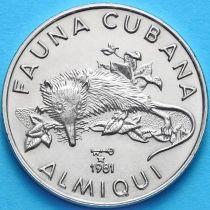 Куба 1 песо 1981 год. Щелезуб