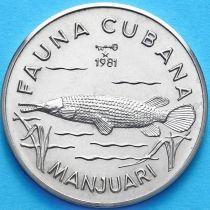 Куба 1 песо 1981 год. Панцирная щука