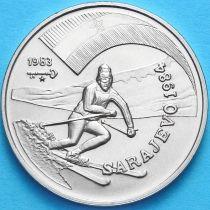 Куба 1 песо 1983 год. XIV Олимпиада в Сараево Горные лыжи