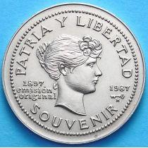 Куба 1 песо 1987 год. 100 лет сувенирному песо