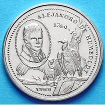 Куба 25 сентаво 1989 год. Александр фон Гумбольдт.