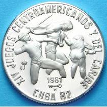 Куба 5 песо 1981 год. Легкая Атлетика. Серебро