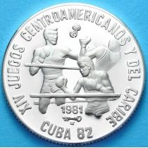Куба 5 песо 1981 г. Бокс. Серебро