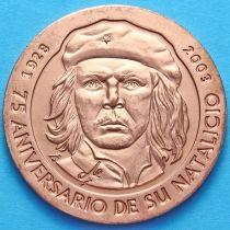 Куба 1 песо 2003 год. Че Гевара. Медь.