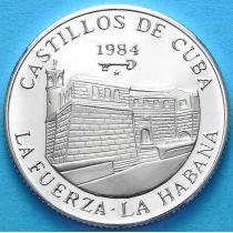Куба 5 песо 1984 г. Крепость ла Фуэрса . Серебро