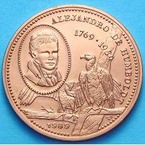 Куба 1 песо 1989 год. Александр Гумбольт