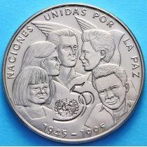 Куба 1 песо 1995 год. 50 лет ООН. В буклете.