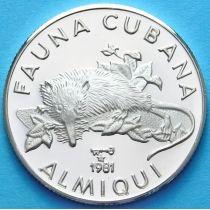 Куба 5 песо 1981 г. Щелезуб. Серебро