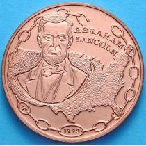 Куба 1 песо 1993 год. Авраам Линкольн. Медь