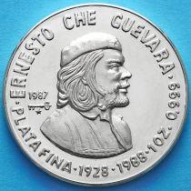 Куба 10 песо 1987 год. Че Гевара. Серебро
