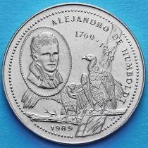 Куба 1 песо 1989 год. Александр фон Гумбольдт.