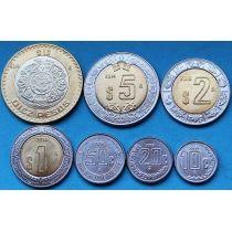 Мексика набор 7 монет 2009-2014 год.