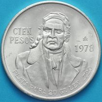 Мексика 100 песо 1978 год. Серебро. Мария Морелос. №2