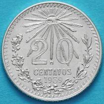 Мексика 20 сентаво 1939 год. Серебро.