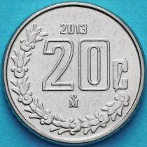 Мексика 20 сентаво 2013 год.