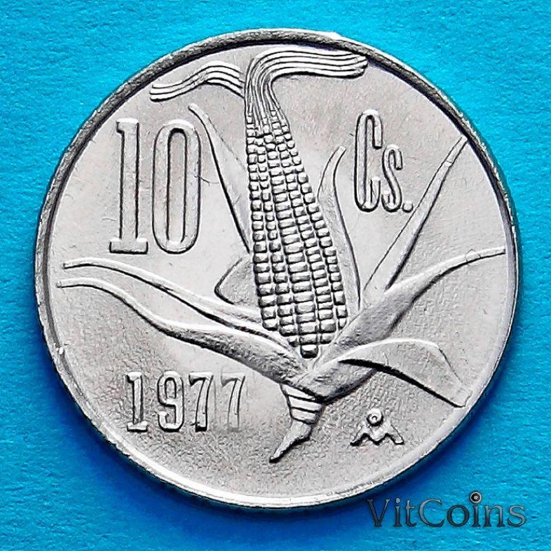 Монета Мексика 10 сентаво 1977 год. Кукурузный початок.