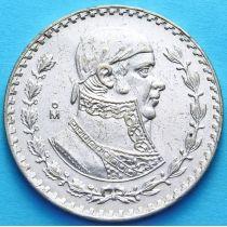 Мексика 1 песо 1961, 1967 г. Хосе Морелос. Серебро