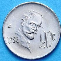 Мексика 20 сентаво 1974-1983 год. Франсиско Мадеро