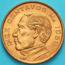 Мексика 10 сентаво 1959 год. Бенито Хуарес.