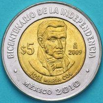Мексика 5 песо 2009 год. Жозе Мария Кос.