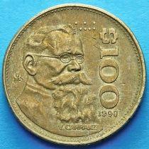 Мексика 100 песо 1990 год. Венустино Карранса.
