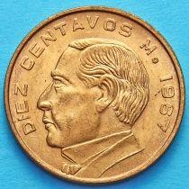 Мексика 10 сентаво 1955-1967 год. Бенито Хуарес.