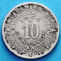 Мексика 10 сентаво 1936, 1946 год.