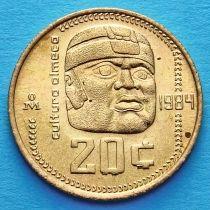 Мексика 20 сентаво 1983, 1984 год. Культура ольмеков.