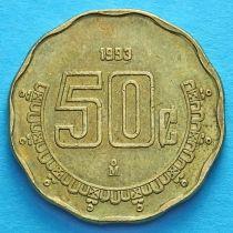 Мексика 50 сентаво 1993-2001 год.