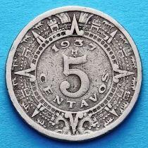 Мексика 5 сентаво 1937 год.