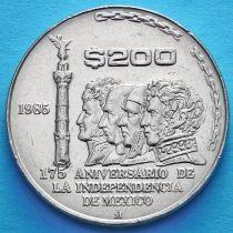 Мексика 200 песо 1985 год. 175 лет независимости.