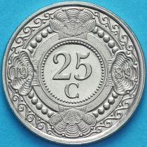 Нидерландские Антилы 25 центов 1989 год.