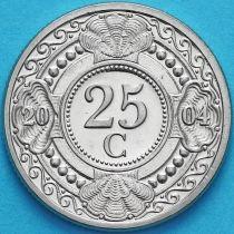 Нидерландские Антилы 25 центов 2004 год.