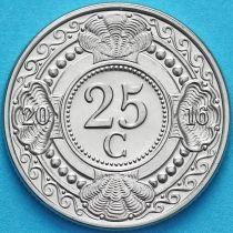 Нидерландские Антилы 25 центов 2016 год.