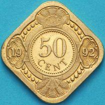 Нидерландские Антилы 50 центов 1992 год.