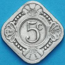 Нидерландские Антилы 5 центов 1963 год.