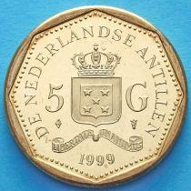 Нидерландские Антилы 5 гульденов 1999 год.