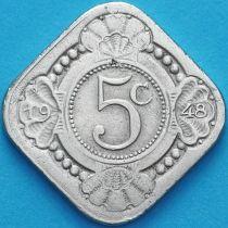 Нидерландские Антилы, Кюрасао 5 центов 1948 год.