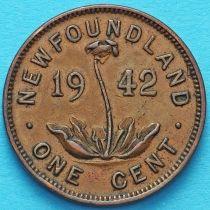 Ньюфаундленд 1 цент 1942 год.